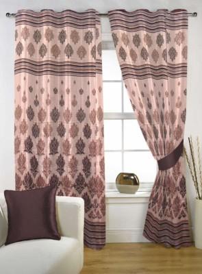 Handloom Factory Polycotton Multicolor Floral Eyelet Door Curtain