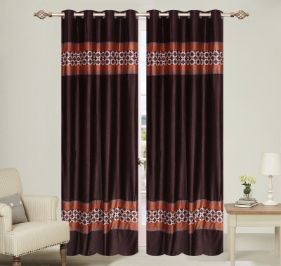 Daddy Homes Polyester Brown Plain Curtain Long Door Curtain