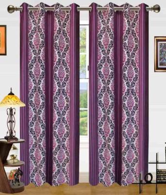 Sanaya Polycotton Multicolor Printed Eyelet Window Curtain