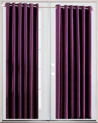 Thiwas Polyester Purple Plain Eyelet Door Curtain