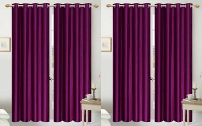 Shopgalore Polyester Shopgalore Plain Eyelet Door Curtain