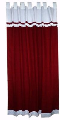 Adt Saral Cotton Multicolor Plain Tab Top Door Curtain