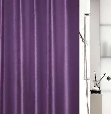 Spread Polyester Grape Printed Eyelet Shower Curtain