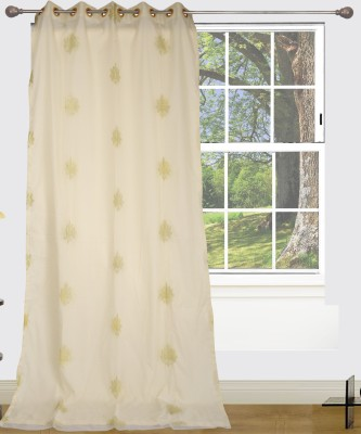 Edit One Polyester White Polka Rod pocket Window & Door Curtain