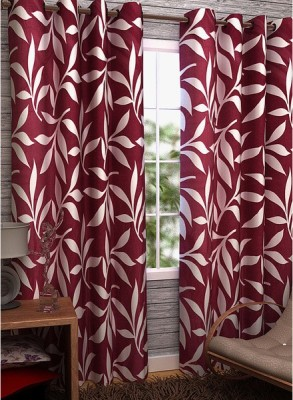 Home Fantasy Polyester Multicolor Abstract Eyelet Door Curtain