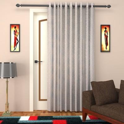 SEVEN STARS Cotton Grey Paisley Curtain Door Curtain