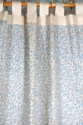 Ocean Homestore Cotton Blue Self Design Curtain Door Curtain