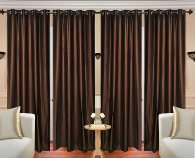 Fresh From Loom Polyester Brown Plain Curtain Door Curtain