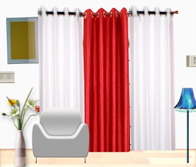 Fresh From Loom Polyester Multicolor Plain Curtain Door Curtain