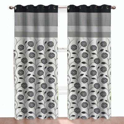 DBR Polyester Multicolor Abstract Eyelet Door Curtain