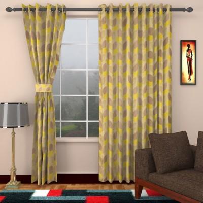 DBR Jacquard Multicolor Floral Eyelet Window Curtain