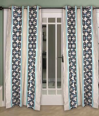 Jai Ganga Polyester Multi Colour Floral Curtain Long Door Curtain