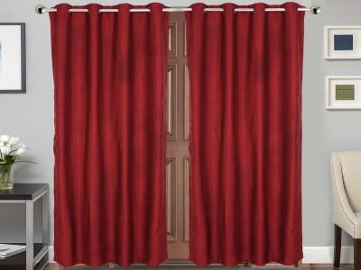 Vivace Homes Jacquard Multicolor Solid Eyelet Door Curtain