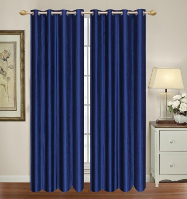 HomeTex Polyester Royal Blue Window Valance