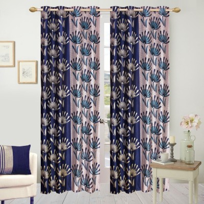 Fresh From loom Polyester Blue Floral Curtain Door Curtain