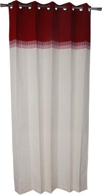 Rann Cotton Maroon Plain Curtain Window & Door Curtain