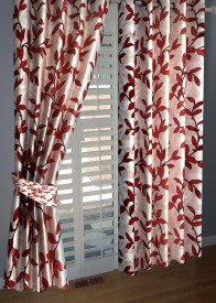 BNA Decor Polyester Orange Abstract Eyelet Window Curtain