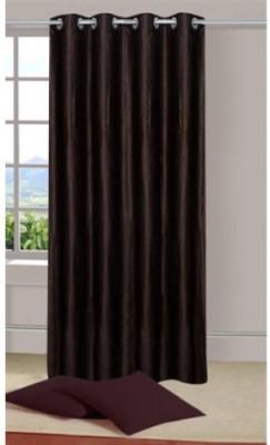 Shiv Shankar Handloom Polyester Brown Plain Eyelet Door Curtain