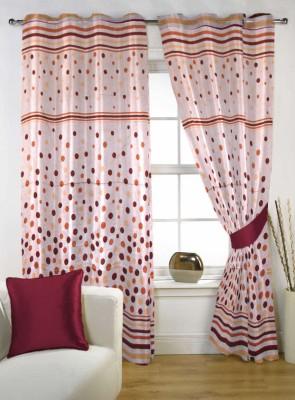 Handloom Factory Polycotton Multicolor Geometric Eyelet Window Curtain