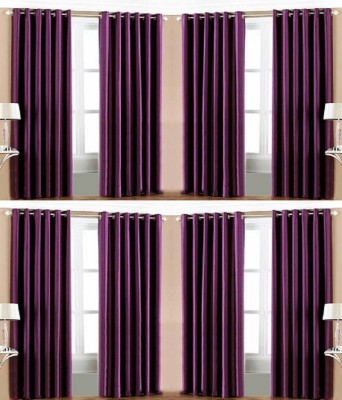 Galaxy Decorations Polyester Wine Plain Eyelet Door Curtain