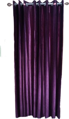 shoppeholics Polyester Multicolor Plain Eyelet Door Curtain