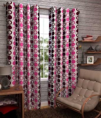 Sanaya Polycotton Multicolor Printed Eyelet Door Curtain