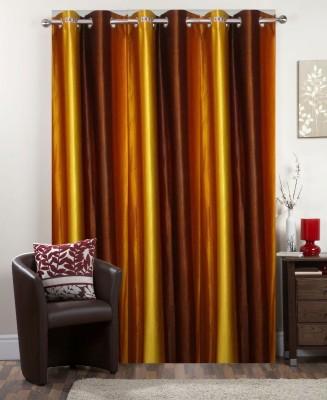 I-LivSmart Polyester Royal Golden Shade Plain Curtain Window & Door Curtain