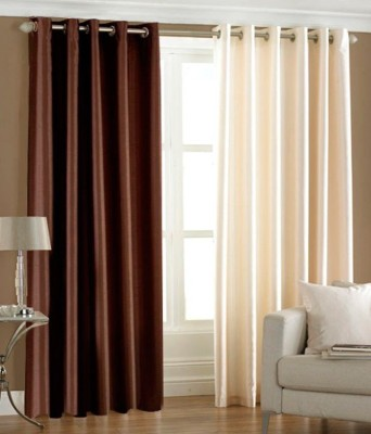Angel Homes Polyester Multicolor Solid Eyelet Window Curtain