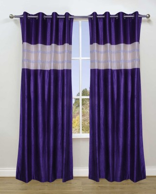 Fresh From Loom Polyester Purple Abstract Curtain Long Door Curtain