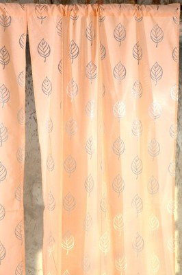 Ocean Homestore Polycotton Pink Self Design Curtain Door Curtain