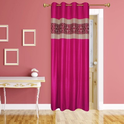 Batham Sales Blends Majenta Plain Eyelet Door Curtain