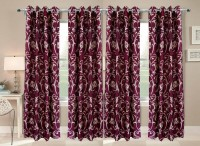 Fresh from Loom Polyester Multicolor Floral Curtain Window Curtain(152 cm in Height, Pack of 4)