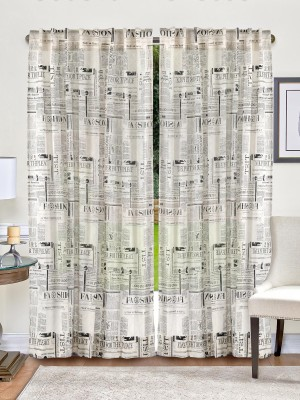 Indian Weave Cotton Black, White Printed Curtain Door Curtain