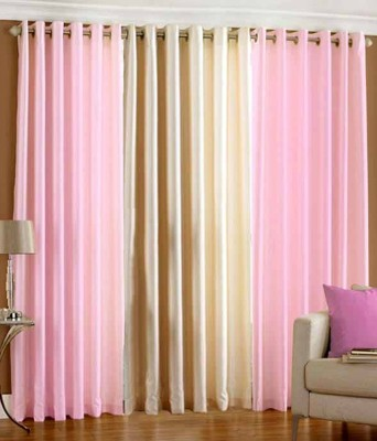 Deziner Décor Polyester Multicolor Abstract Eyelet Door Curtain