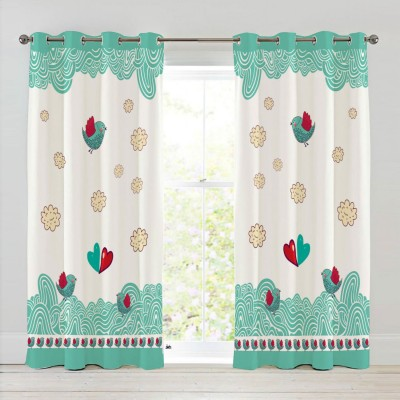 Right Polyester Riscurmc001 Animal Eyelet Door Curtain