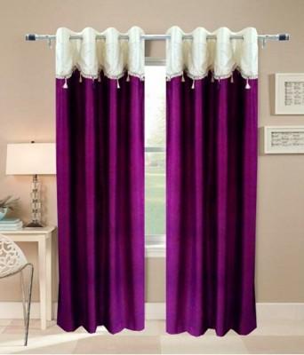 Creativehomes Polyester Multicolor Plain Eyelet Window Curtain