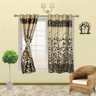 I Catch Blends Black Floral Curtain Window Curtain