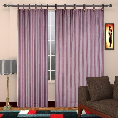 TG Shoppers Cotton Purple Striped Curtain Door Curtain