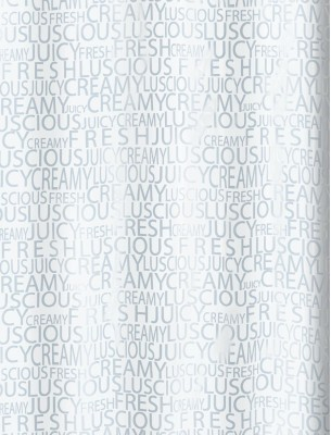 Spread Polyester Silver Printed Eyelet Shower Curtain