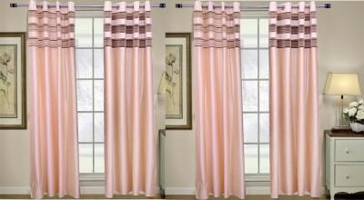 Rangoli Polyester White Self Design Eyelet Door Curtain