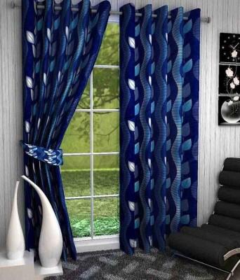 Jai Ganga Polyester Multi Colour Floral Curtain Door Curtain
