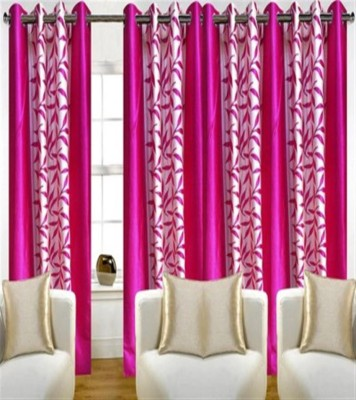 Profabhome Polyester Multicolor Printed Eyelet Long Door Curtain