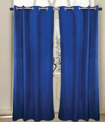 House This Cotton Blue Printed Eyelet Door Curtain