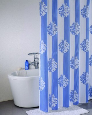 Freelance Polyester Multicolor Floral Eyelet Door Curtain