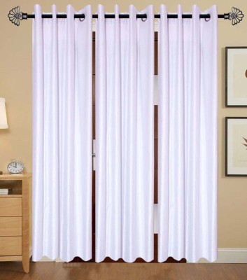 IndianOnlineMall Polyester White Plain Eyelet Long Door Curtain