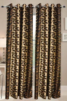 Valtellina Polyester Multicolor Abstract Eyelet Door Curtain