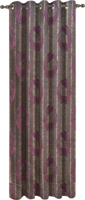 Dreamscape Polyester Pink Printed Eyelet Door Curtain