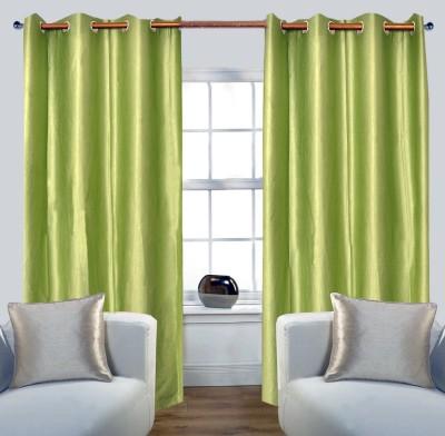 Glamora Interiors Polyester Light Green Plain Curtain Window & Door Curtain