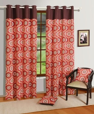 House This Cotton Red Striped Eyelet Window Curtain