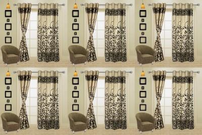 I Catch Blends Black Floral Curtain Door Curtain